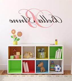 """Nursery Custom Name and Initial Wall Decal Sticker 45"""" W by"""