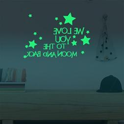 Homics Nursery Wall Decals Luminous Words Sticker At Night -