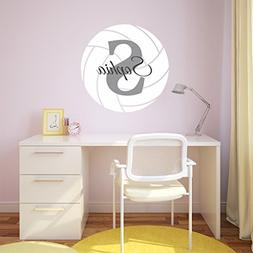 Nursery Wall Decals Volleyball Name and Initial Personalized