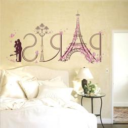 Paris Eiffel Tower Romantic Wall Stickers Vinyl Decal Mural