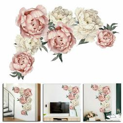 Peony Flower Wall Sticker Living Room Floral Mural Decal Hom