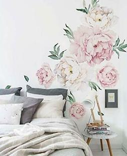 peony flowers wall sticker vintage pink by