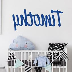 Personalized Custom Name Wall Decal for Baby Boy Nursery Roo