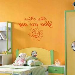 PERSONALIZED YOU ARE MY SUNSHINE vinyl wall art decal sticke