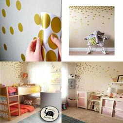 Posh Dots Metallic Gold Circle Wall Decal Stickers for Festi