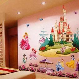 Princess Castle Wall Sticker Large Vinyl Decal Girl Kids Bed