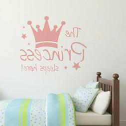Princess Crown Wall Sticker Decal Mural Wallpaper Decor for