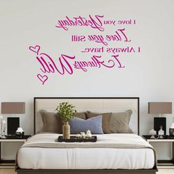 Quote Wall Decal – I Love You  - Vinyl Sticker Nursery for