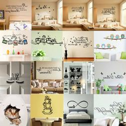 Quote Wall Stickers Vinyl Art Home Room DIY Decal Decor Bedr