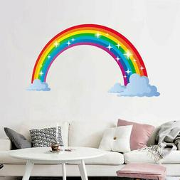 Rainbow Wall Decal Kids Wall Sticker Nursery Home Decor Bedr