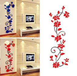 Removable DIY 3D Acrylic Crystal Wall Stickers Living Room B