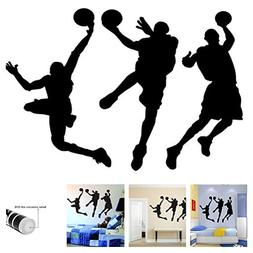 "Amaonm 31.5"" x 53.1"" Removable DIY Vinyl Three Basketball Pl"