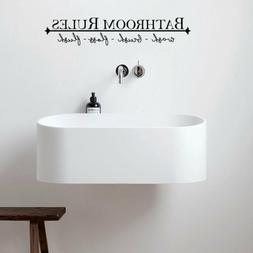 Removable DIY Wall Sticker Bathroom Rules Mural Home Decal D