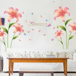 Removable Rain Flower Wall Stickers Mural DIY Art Decal Home