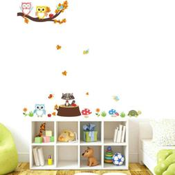 Removable Tree Owl Wall Decals Kids Bedroom Baby Nursery Sti
