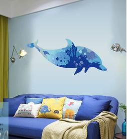 Removable Vinyl Wall Decal dolphin kids boy room Sticker Hom