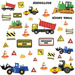 RoomMates RMK2330SCS  Construction Trucks Peel and Stick Wal