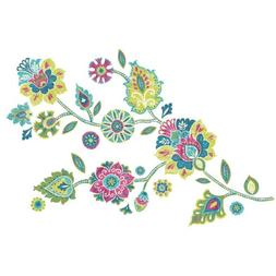 RoomMates RMK2468GMBoho Floral Peel and Stick Giant Wall Dec