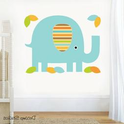 Safari Elephant Decal Baby Boy Nursery Wall Art Stickers Mur