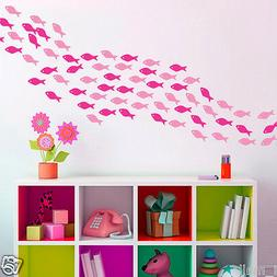 School of Fish in 2 colour ways Removable wall stickers for