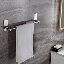 Taozun Self Adhesive 16-Inch Bathroom Towel Bar Brushed SUS