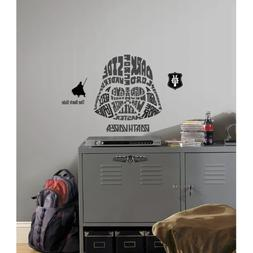 RoomMates Star Wars Typographic Darth Vader Peel and Stick G