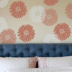 Starburst Zinnia Wall Art Stencil - Small - Trendy Wall Sten