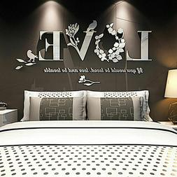 🔥Stylish Removable 3D Leaf LOVE Wall Sticker Art Vinyl De