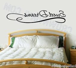 SWEET DREAMS - Inspirational Quote Removable Vinyl Wall Art