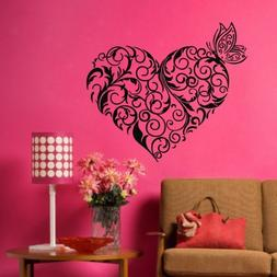 TGSIK DIY Flower Branch Love Heart Wall Decals Vinyl Removab