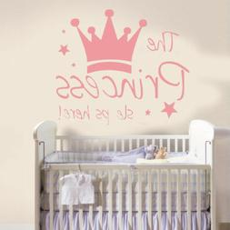 The Princess Sleep Here Wall Stickers Removable For Girl Kid