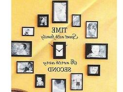 TIME SPENT WITH FAMILY Wall Art Decal Quote Words Lettering