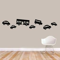 Traffic Wall Decal Set - Kids, Nursery, Cars, Trucks, Travel