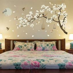 Tree Wall Stickers Birds Flower Home Decor Wallpapers for Li
