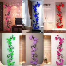 UK Flower Decal Decor Art Removable Mural Family Living Room