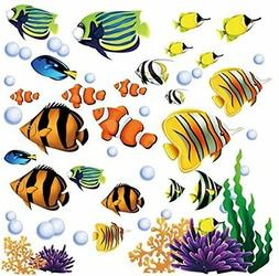 Under the Sea Decorative Peel and Stick Wall Art Sticker Dec