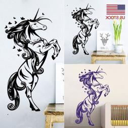 Unicorn Horse Wall Stickers Removable PVC Wall Decal Sticker