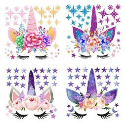 Unicorn Stars Wall Stickers Decals Home Kids Baby Girls Boys