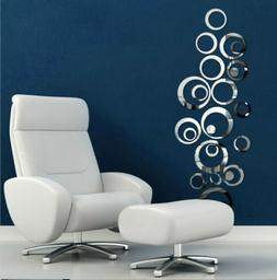 us 3d circle mirror wall sticker removable