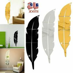 US 3D DIY Removable Home Mirror Wall Stickers Decal Art Viny