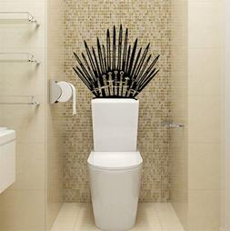 US GAME OF THRONES Iron Throne  Vinyl Decal Toilet Wall Stic