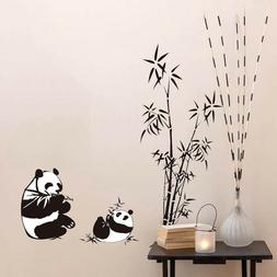 Chinese Style Panda Bamboo Decor Wall Stickers Decal Home Re