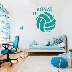 Volleyball Wall Decal Sports Gifts - Personalized Ball Stick