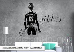 VolleyBall Wall art Large Volley ball Player Vinyl decal sti