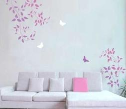 Wall Stencils Clematis Vine 3pc kit - Easy Wall decor with s