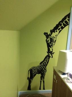 Stickerbrand Wall Decal Sticker Baby Giraffe w/ Mother Afric