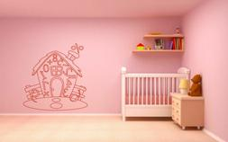 Wall Decal Sticker Bedroom house numbers school cartoon nurs