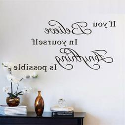 Wall Decal Stickers Removable Vinyl Art Quote Bedroom Mural
