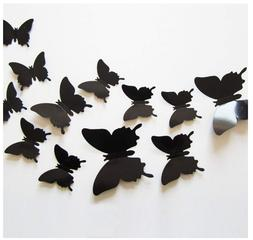 Wall Decoration Stickers Decal Butterfly Removable Mural 24p