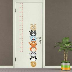 Wall Sticker Home Decor Animal Height Growth Chart Ruler Kid